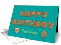Happy Birhday. Cookies font card (1428904)