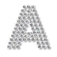 Alfabeto con brillantes.   Oh my Alfabetos!