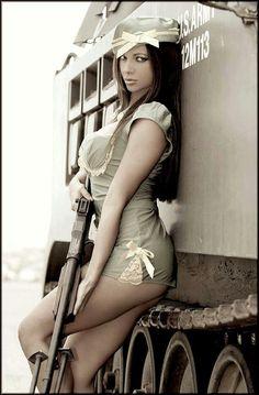 Military pin up girl