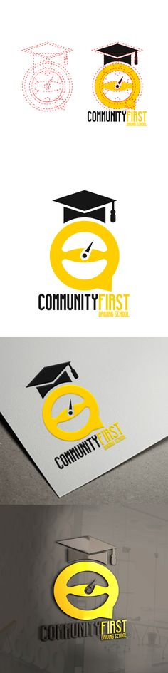 Logo design for COMMUNITY FIRST DRIVING SCHOOL