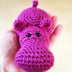 Hippo amigurumi by samaranselmo Crochet Hippo, Cute Crochet, Crochet Animals, Crochet Baby, Knit Crochet, Crochet Toys Patterns, Amigurumi Patterns, Knitting Projects, Crochet Projects