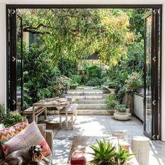 Exterior Design Garden Living Spaces 45 Ideas For 2019 Casa Patio, Backyard Patio, Backyard Landscaping, Landscaping Ideas, Backyard Projects, Home Garden Design, Patio Design, Exterior Design, Pergola Designs