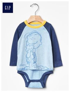 eac92b773c babyGap + Peanuts® baseball body-double bodysuit - The gangs all here! Catch