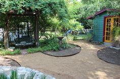 Creative Lawn Alternative | Diana's Designs Austin Dry Garden, Raised Garden Beds, Lawn Alternative, Paths, Diana, Gardening, Landscape, Gallery, Creative