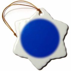 3dRose Plain sapphire blue - solid one color - royal dark Persian blue - modern contemporary simple, Snowflake Ornament, Porcelain, 3-inch