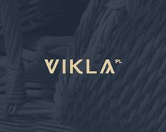Vikla by futureform Logo for internet shop having products mainly made from wicker, wood and also another handmade stuff.