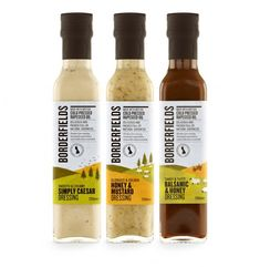 """""""The new Borderfields dressings range is about to hit the shelves in supermarkets throughout the UK. Made with deliciously tasty and healthy cold pressed rapeseed oil, the flavours include Simply Caesar, Honey & Mustard and Balsamic & Honey. The dressings are launched on the back of Cubic's successful rebrand of Borderfields, which in the first year has seen sales of their Cold Pressed Rapeseed Oil double from 147,000 to 290,000 bottles."""""""