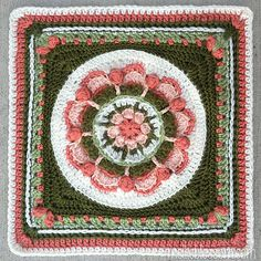 Ravelry: MamaMellie's Kiss 2 Crochet Square - if you go to MamaMellie's page, she has lots of pretty squares from various CALs and projects linked nicely