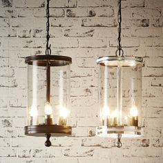 Carnaby Glass Hanging Lamp In Nickel | emac-lawton.com.au