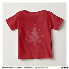 Dreamy White Christmas Tree Silver Star T Shirt