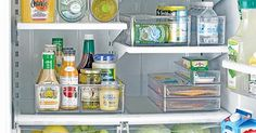 Reorganize Your Refrigerator -- (Fridge Binz available at The Container Store)