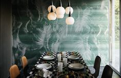 Custom wall covering in non woven fabric and vinyl by Wall&decò, For information: info@wallanddeco.com