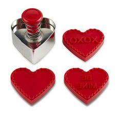 Valentine Stamp Cookie Cutter Set #williamssonoma