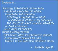 """Dyslexia is swirling tornadoes on the page...a tormenting storm in my stomach."""