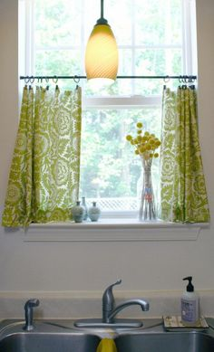 Curtains Ideas curtain ideas small windows : one panel curtain for small window - LOVE the curtain rod! does ...
