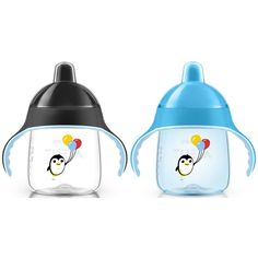 Philips AVENT My Penguin Sippy Cup, Blue/Black, 9 Ounce (Pack of 2)