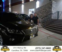 Congratulations Richard and Kim on your #Lexus #RX 350 from Joy Green at Auto Web Expo Inc!  https://deliverymaxx.com/DealerReviews.aspx?DealerCode=J789  #AutoWebExpoInc