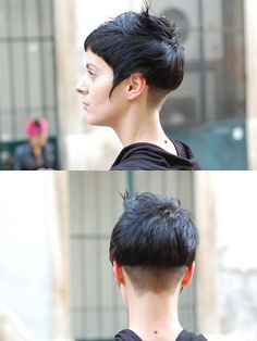 haircut dark short by wip-hairport, via Flickr