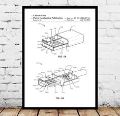 USB Drive Patent, USB Drive Poster, USB Drive Print, Flash Drive Art, Flash Drive Decor, Flash Drive Blueprint by STANLEYprintHOUSE  1.00 USD  This poster is printed using high quality archival inks, and will be of museum quality. Any of these posters will make a great affordable gift, or tie any room together.  Please choose between different sizes and colors.  These posters are shipped in mailing tubes via USPS First Clas ..  https://www.etsy.com/ca/listing/482761204/usb-drive-pa..