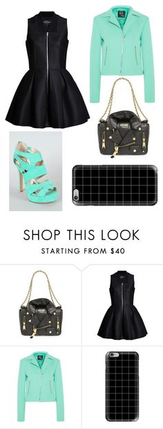 """""""Leather"""" by mag11rich ❤ liked on Polyvore featuring Moschino, Lavinia Cadar, McQ by Alexander McQueen, Qupid and Casetify"""