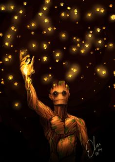 Guardians of the Galaxy | Groot by Erlie. I would love to have this as a tattoo!