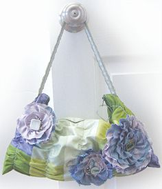 Ruffled & Ruched Hobo pattern, shown in the Glistening coloration