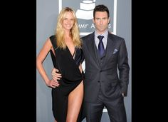 so now adam levine's single, that aside, look at this suit! and anne v's dress too.