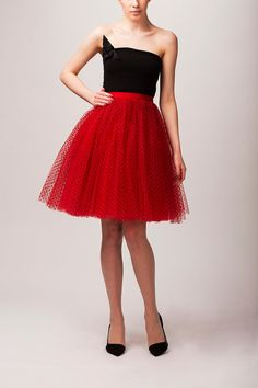 Adult red tulle skirt, red tutu skirt, petticoat, wedding skirt, custom made to order