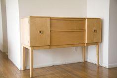 Broyhill Saga Tall Boy Credenza Dresser Mid Century