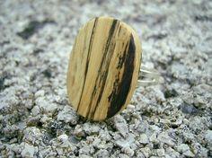 RING Spalted Oak Handmade Wooden Ring by WoodenArtist on Etsy