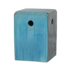 Square Garden Stool in Blue design by Emissary ($361) ❤ liked on Polyvore featuring home, outdoors, patio furniture, outdoor stools, stools, blue ceramic garden stool, square garden stool, ceramic garden stools, blue garden stool and blue outdoor furniture