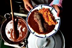 Mole sauce, a specialty in the Mexican city of Puebla, takes several days and a small army to prepare.
