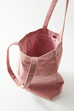 Shop UO Corduroy Tote Bag at Urban Outfitters today. Urban Outfitters Tote Bags, Diy Bag Designs, Diy Tote Bag, Embroidery Bags, Fabric Bags, Shopper Bag, Cotton Bag, Cloth Bags, Handmade Bags