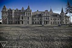 Krowiarki Palace in Poland, not used since WWII.