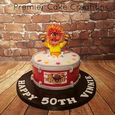 Muppet drum cake