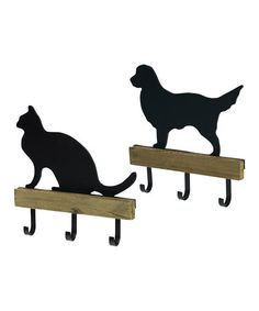 Take a look at this Cat & Dog Wall Hanger Set by Melrose on #zulily today!  They are so cute!