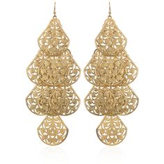 Gold Tiered Chandelier Earrings (155 ILS) ❤ liked on Polyvore featuring jewelry, earrings, accessories, brincos, gioielli, jewelry earrings sequin, gold tone earrings, earring jewelry, yellow gold earrings and gold chandelier earrings
