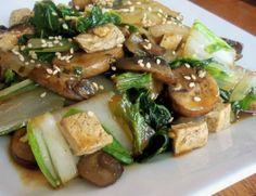 Stir-Fried Shitake Mushrooms With Tofu And Bok Choy Recipe - Genius Kitchen