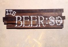 Father's Day it's beer 30 wall wood pallet  sign 28x9  on Etsy, $20.00