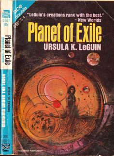 Ace Double G-597: Planet of Exileby Ursula K. Le Guin, 1966. Cover by Jerome Podwil.