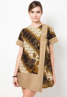 Mini Dress Batik Motif Parang Boket by Danar Hadi OK0743 | Klikplaza Online Shop