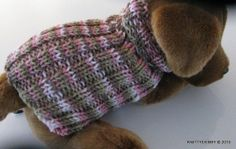 Hand knit Dog sweater Pink Camo Size small for Tea by KnittyDebby, $12.99