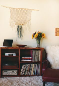 old albums from Home Tour: Senior Designer, FP Movement | Free People Blog #freepeople