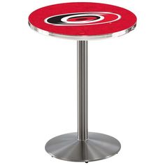 """Carolina Hurricanes 42"""" Round Foot Stainless Pub Table - $449.99"""