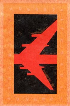USSR MATCHBOX LABEL - 1959 Aeroflot (cm. 7,1 x 10,6)