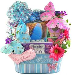 Mothers Day Gift Basket, could steal this idea for DIY. Mother's Day Gift Baskets, Themed Gift Baskets, Raffle Baskets, Boyfriend Gift Basket, Boyfriend Gifts, Gift Of Time, Me Time, Mothers Day Cards, Happy Mothers Day
