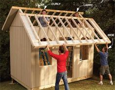 How to build a cheap storage shed, play house? I will need to know this at a later date I am sure #kidsplayhouseplans