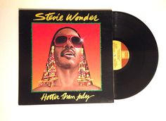 HOLIDAY SALE Vinyl Record Stevie Wonder Hotter Than July LP Album 1980 Happy Birthday Cash In Your Face