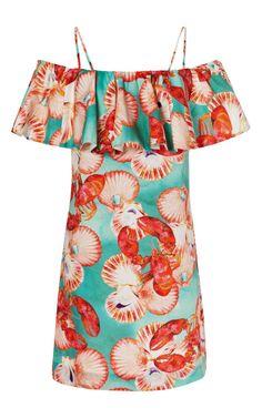 Shop Lobster+Ruffle+Dress+by+Isolda+-+Moda+Operandi