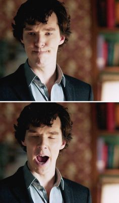 Adorable Benedict as Sherlock.